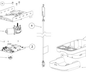 parts diagrams - overhead door residential opener parts diagrams - odyssey  series 1000 & destiny 1200 - overhead door parts online  overhead door parts